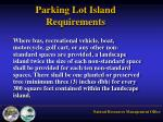 parking lot island requirements2
