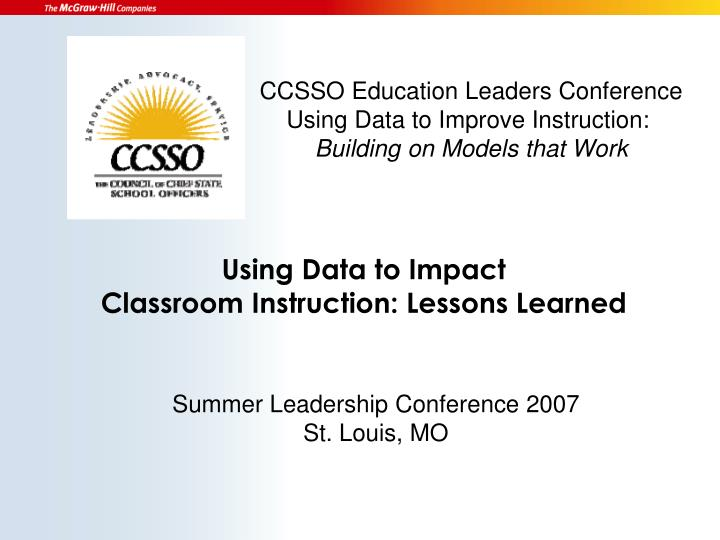 CCSSO Education Leaders Conference