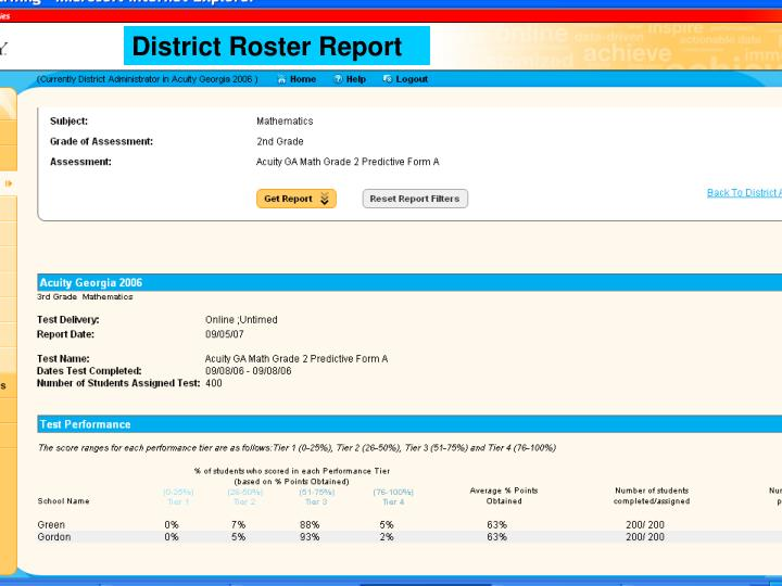 District Roster Report