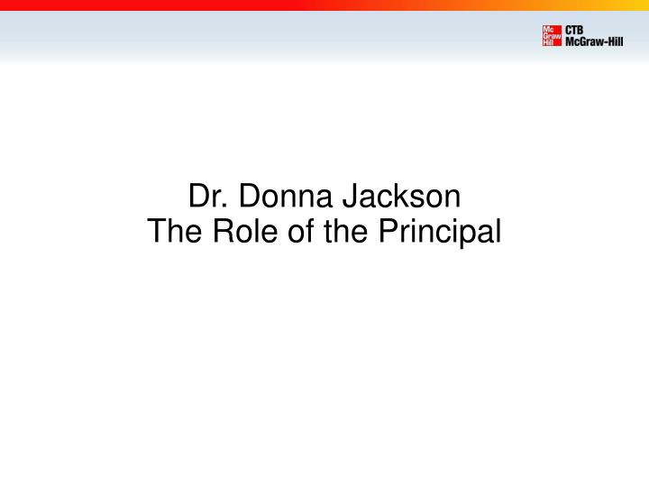 Dr. Donna Jackson
