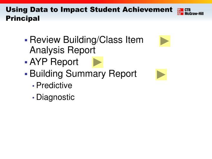 Using Data to Impact Student Achievement
