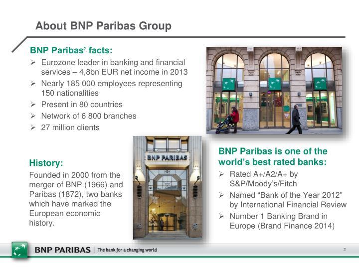About bnp paribas group