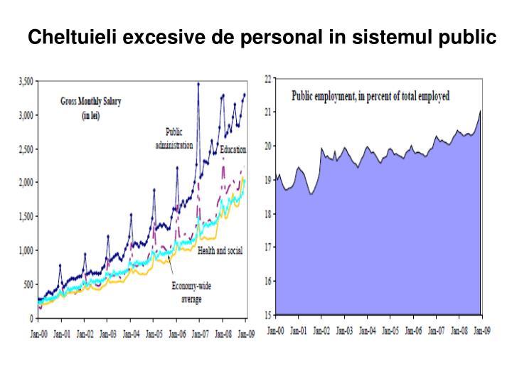 Cheltuieli excesive de personal in sistemul public