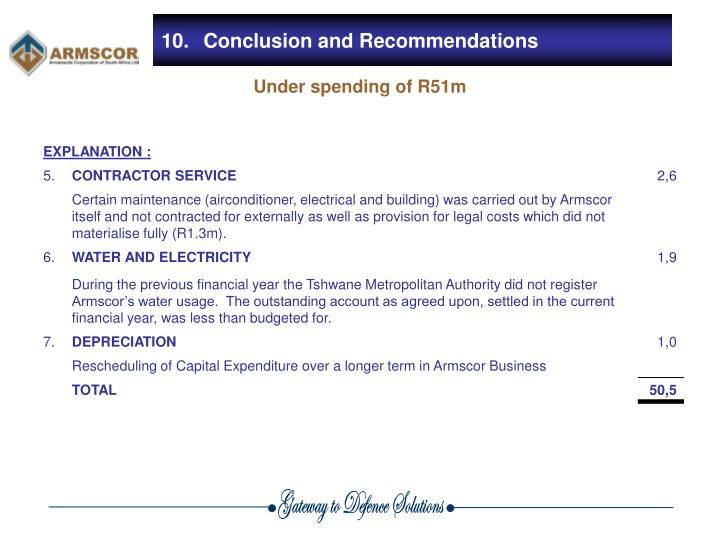 10.Conclusion and Recommendations