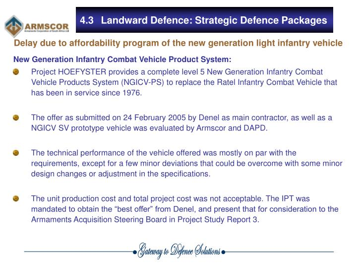 New Generation Infantry Combat Vehicle Product System: