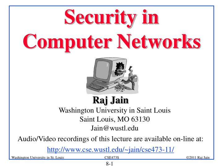 security in computer networks n.