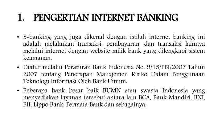 Pengertian internet banking