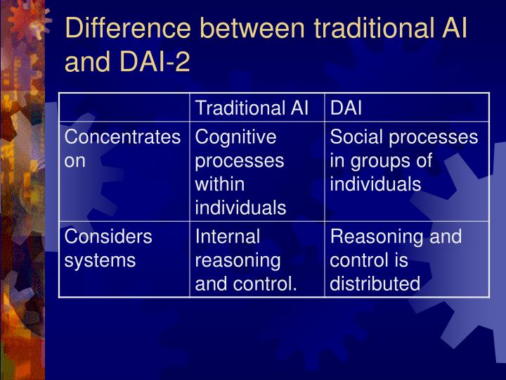 Difference between traditional AI and DAI-2
