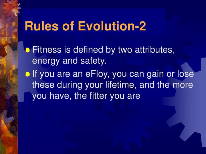 Rules of Evolution-2