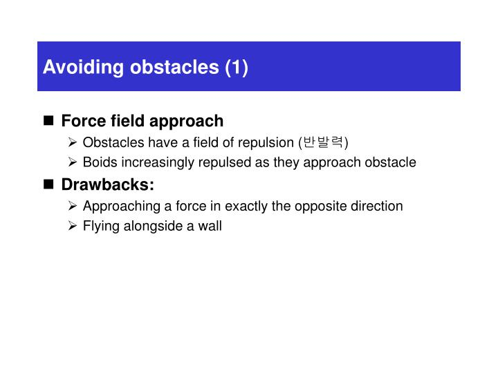 Avoiding obstacles (1)
