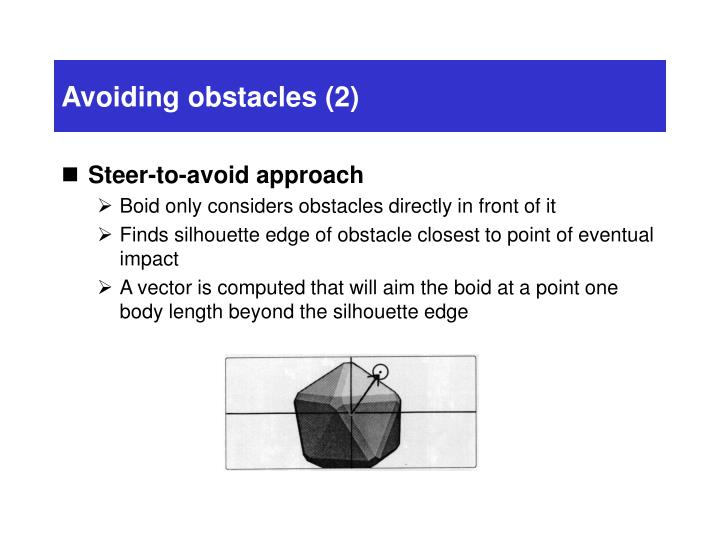Avoiding obstacles (2)