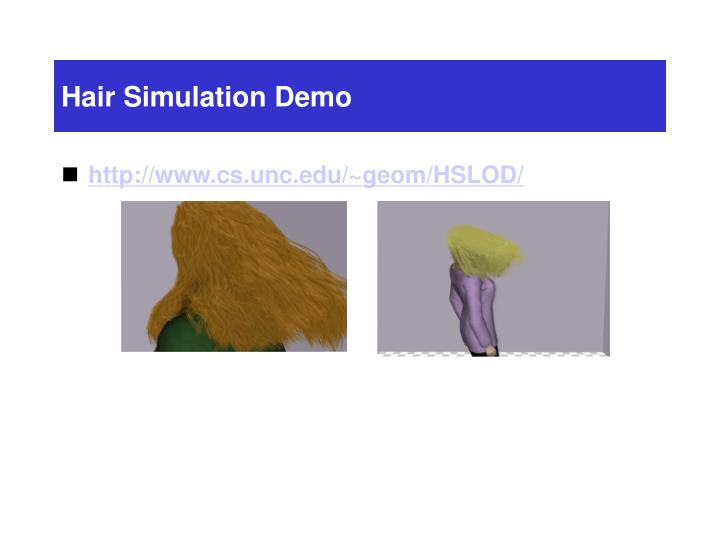 Hair Simulation Demo