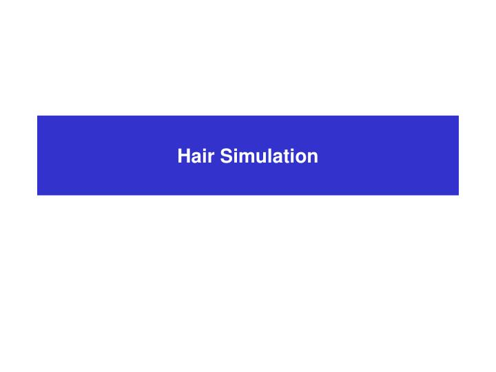 Hair Simulation