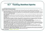 lesson 6 distilling how spirits are made 6 7 tasting distilled spirits