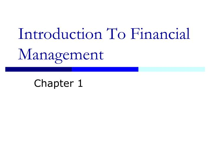 introduction to financial management n.