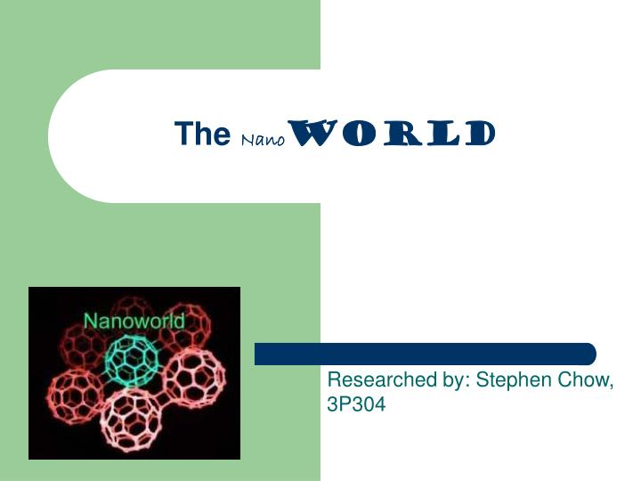 Ppt The Nano World Powerpoint Presentation Free Download