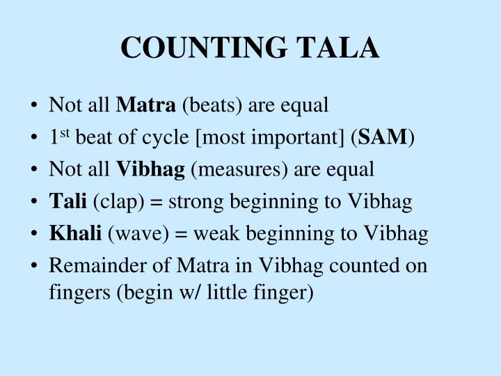 Counting tala