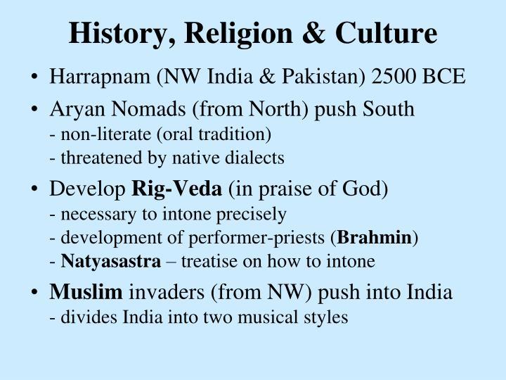 History, Religion & Culture