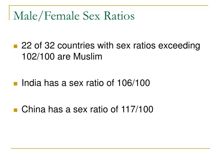 Male/Female Sex Ratios