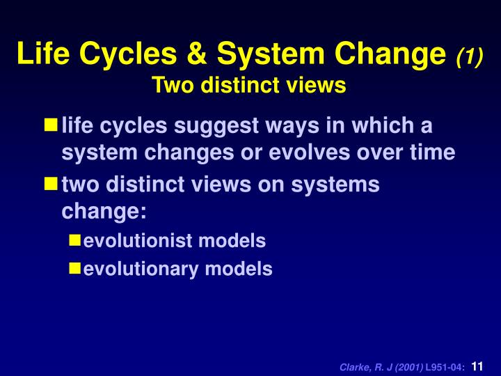 Life Cycles & System Change