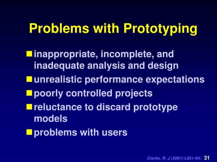 Problems with Prototyping