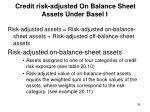 credit risk adjusted on balance sheet assets under basel i