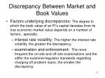 discrepancy between market and book values