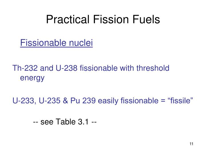 Practical Fission Fuels