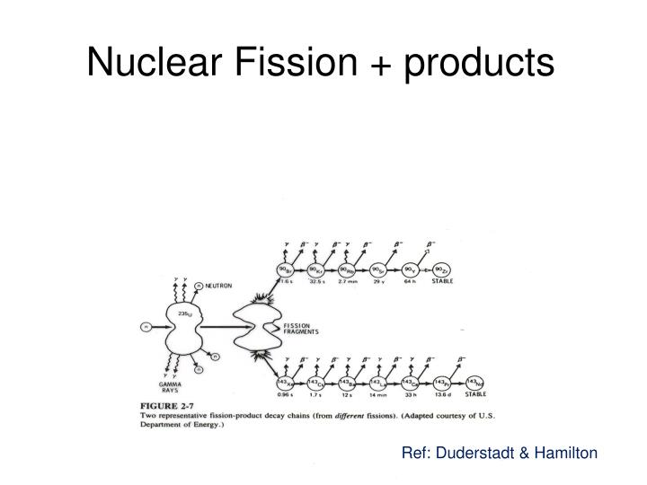 Nuclear Fission + products
