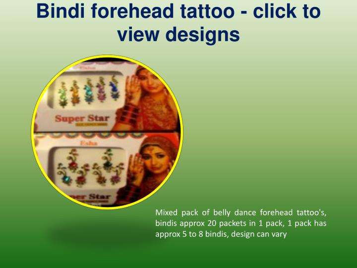 Bindi forehead tattoo click to view designs