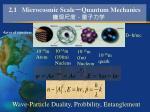 2 1 microcosmic scale quantum mechanics