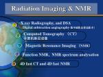 radiation imaging nmr