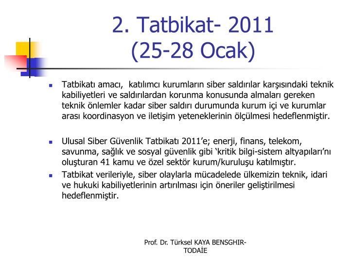2. Tatbikat- 2011