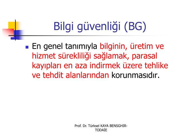 Bilgi güvenliği (BG)