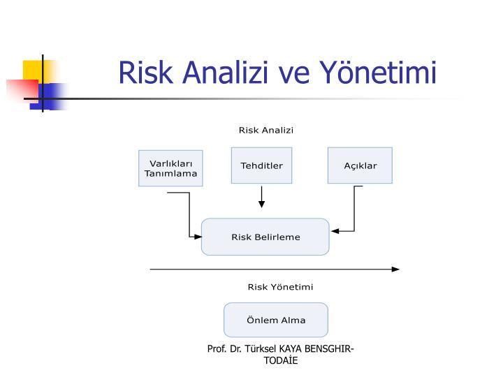 Risk Analizi ve Yönetimi