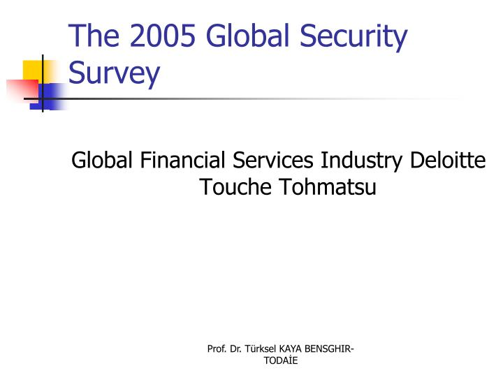 The 2005 Global Security Survey