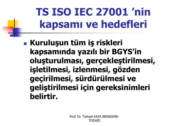 TS ISO IEC 27001