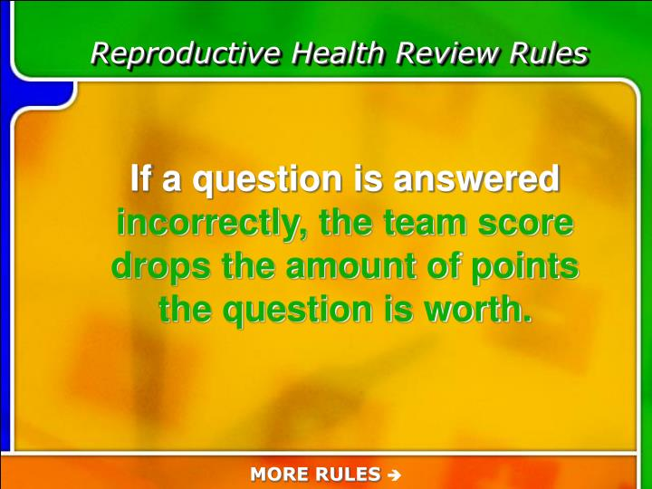 Reproductive Health Review Rules