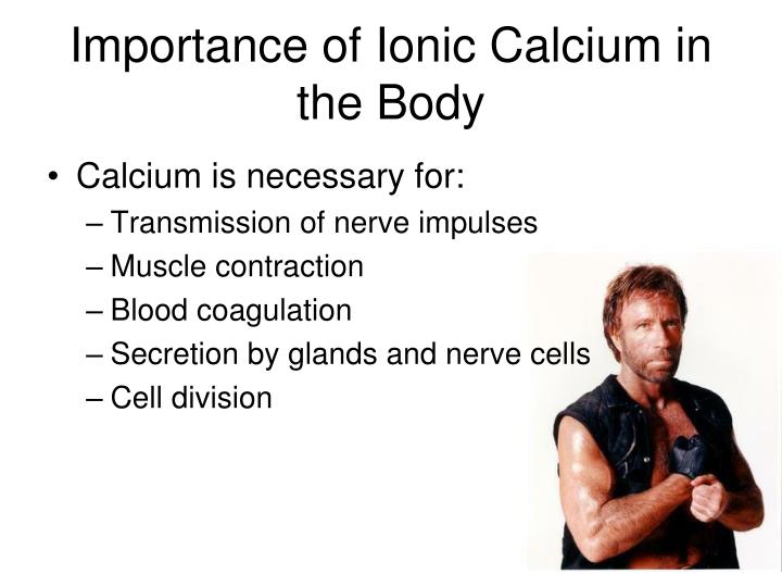 Importance of Ionic Calcium in the Body