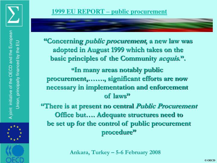 1999 EU REPORT – public procurement