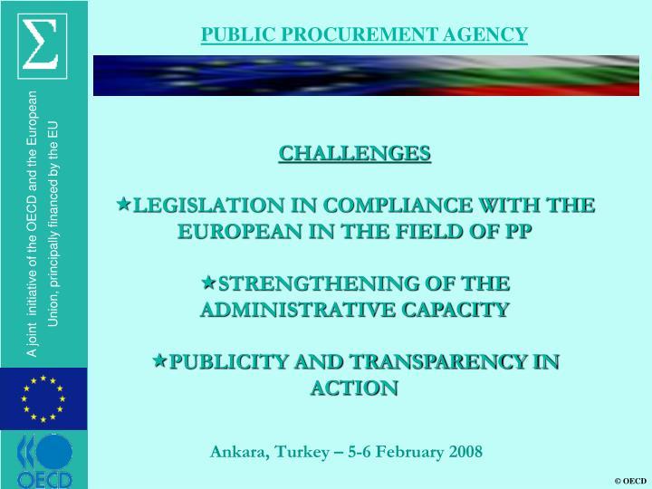 PUBLIC PROCUREMENT AGENCY