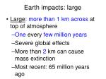 earth impacts large