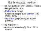 earth impacts medium1
