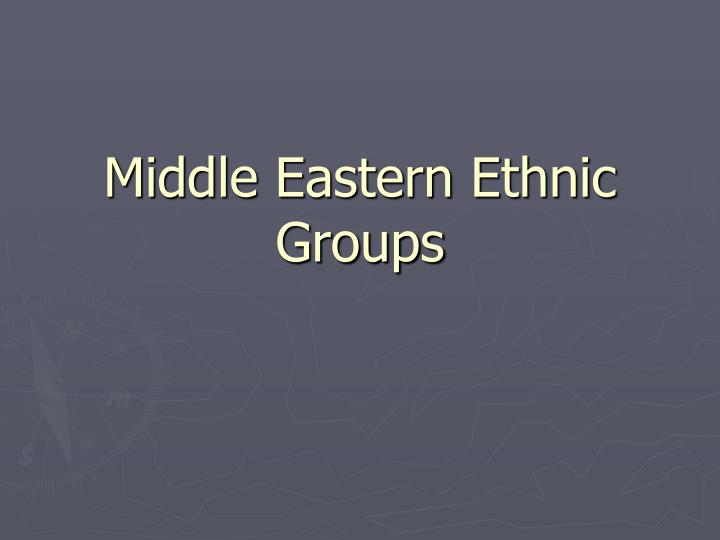 middle eastern ethnic groups n.