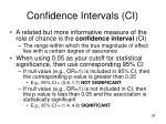 confidence intervals ci