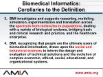 biomedical informatics corollaries to the definition1