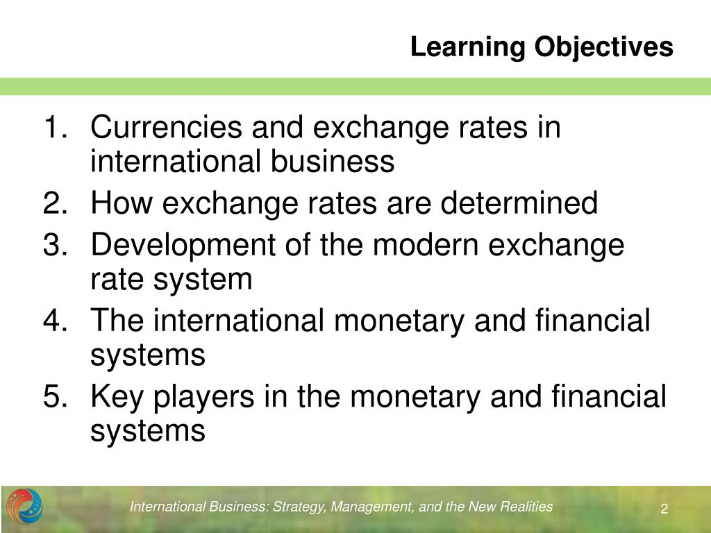 PPT - Chapter 10 The International Monetary and Financial