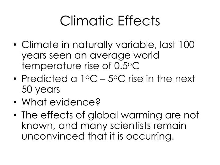 Climatic Effects