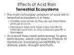 effects of acid rain terrestrial ecosystems