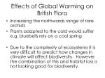 effects of global warming on british flora